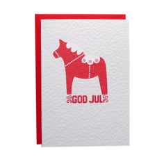God Jul Christmas Card, by Tea and Ceremony on Folksy, £2.50