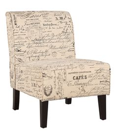 Linen Script Coco Accent Chair by Linon Home #zulily #zulilyfinds