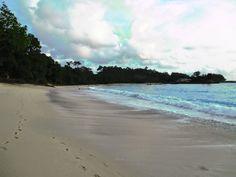 Linau Beach in Kaur, Bengkulu.