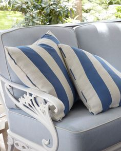 Shop Stripe Outdoor Pillow, from Brown Jordan at Horchow, where you'll find new lower shipping on hundreds of home furnishings and gifts. Cheap Throw Pillows, Decorative Throw Pillows, Marine Colors, Brown Jordan, Chair Price, Armless Chair, Pillow Sale, Day Lilies, Outdoor Chairs