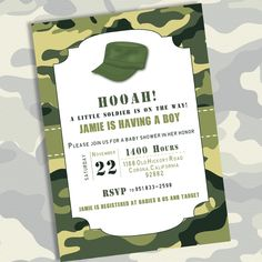 Printable Army Camo Baby Shower Invitation By Eleven Pixel 10