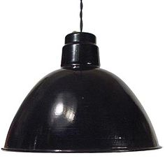 Large dramatic Black over White   porcelain ceiling lamp   8 examples $550 each