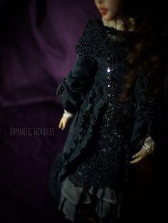 ''Lady'' handmade Ooak doll by Romantic Wonders Silk Dress, Dress Skirt, Ooak Dolls, Cotton Dresses, Bodice, Romantic, Lady, Handmade, Fashion