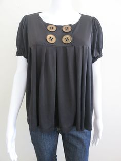 LILI Top Size 12 Black Short Sleeve BUY 4 or more items 4 FREE POST #Lili #Blouse #EveningOccasion