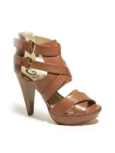 G by GUESS Women's Dixie Platform Sandal  in love just bought some similar breaking those suckers in now!