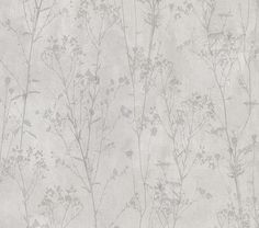 With a plaster inspired background, this earthy wallpaper has a contemporary edge. Dark grey twigs with blossoming flowers add to its organic feel, while their silhouette design lends to a modern flair. Tanner is an unpasted, non woven wallpaper. Grey Wallpaper Samples, Grey Floral Wallpaper, Textured Wallpaper, Plant Wallpaper, Wallpaper Roll, Brewster Wallpaper, Wallpaper Warehouse, Tiny Flowers, Forest Flowers