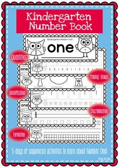 Kindergarten Number Book - Number One $