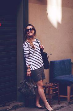 stribet sweatshirt | Emily Salomon