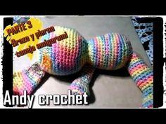 CONEJO AMIGURUMI BRAZO Y PIERNA ( 3 DE 4 ) Andy crochet - YouTube