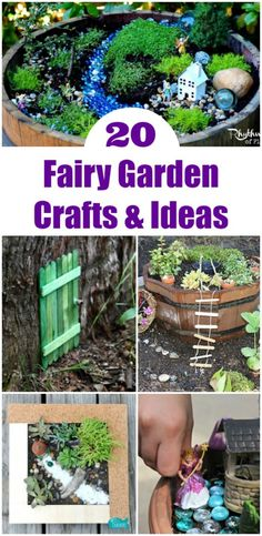 Fairy garden ideas, crafts & play activities   gardening for kids   outdoor play activities #gardening #fairygarden #kidscrafts