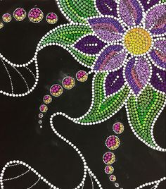 Flower dot painting