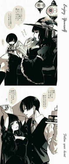 Witch and Boy Anime Witch, Manga Art, Manga Anime, Character Art, Character Design, Witch Art, Cute Anime Couples, Anime Comics, Doujinshi