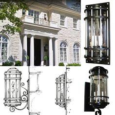 Contemporain custom-made lighting. Outdoor Light Fixtures, Outdoor Lighting, Custom Lighting, How To Make Light, Design Process, Custom Made, Mansions, House Styles, Home Decor