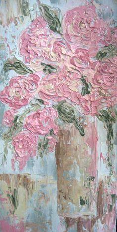 Flowers, impasto style