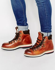 Selected Homme Hiking Shearling Look Hiking Boots