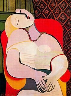 """Picasso ,"""" lady sleeping """" I own a print its one of my favorite pieces ."""