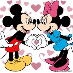 Valentine's Day clip art of Mickey and Minnie Mouse Mini Mouse Drawing, Mickey Drawing, Mickey Mouse Drawings, Mickey Mouse Pictures, Disney Drawings, Mickey Mouse Kunst, Mickey Mouse Clipart, Mickey Mouse Cartoon, Mickey Mouse And Friends