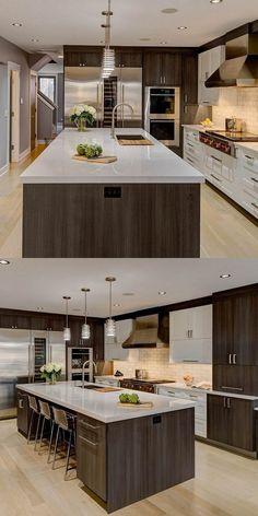 Luxury Kitchen Design, Kitchen Room Design, Kitchen Cabinet Design, Home Decor Kitchen, Interior Design Kitchen, New Kitchen, Home Kitchens, Kitchen Ideas, Kitchen Modern