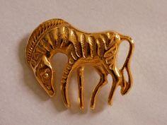 Vintage Gold tone Zebra by joegems66 on Etsy