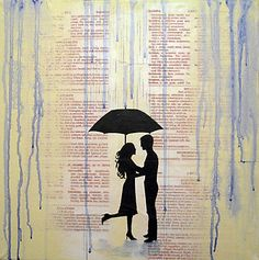 Art of People with Umbrellas | wrightsonarts › Portfolio › love umbrella art artwork wall canvas ...