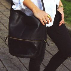 Hare+Hart Bucket Bag in Black with Black Haircalf Girly Things, Leather Backpack, Bucket Bag, Backpacks, Brand New, Hare, Collection, Black, Fashion