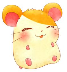 Hamtaro - A childhood favorite of mine! Manga Anime, Anime Chibi, Anime Art, Kawaii Drawings, Cute Drawings, Animal Drawings, Hamtaro, Pokemon, Anime Animals
