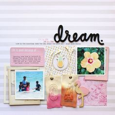 Dream scrapbook layout by Nancy Damiano for SCTMagazine
