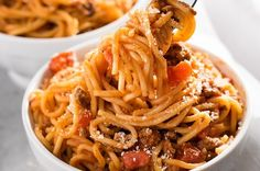 Jump to Recipe Print RecipeInstant Pot Spaghetti – The easiest spaghetti recipe ever!  A quick recipe for spaghetti made right in the instant pot.  Get a family favorite meal on the table even faster on busy nights! Ok, you guys.  I resisted as long as I could. It was definitely time for me to get...Read More »