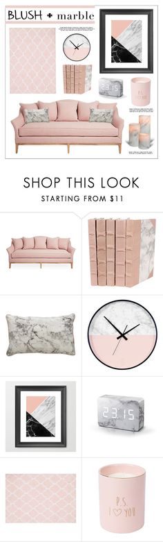 """""""blush + marble"""" by lgb321 ❤ liked on Polyvore featuring interior, interiors, interior design, home, home decor, interior decorating and Essenza"""