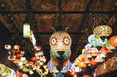 Vintage Beautiful Illuminated Lanterns Hanging In Small Shop Traditional Lamps, Moroccan Lamp, Handmade Lamps, Us Images, Design Elements, Lanterns, Christmas Bulbs, The Unit, Colorful