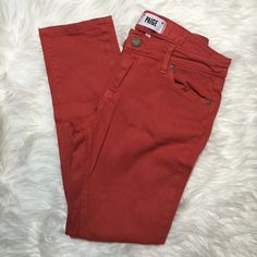 Paige Troy Boy Slacker Skinny Jeans in Crane Peach Condition: Used. No noted defects. • Color: Crane Peach. It's a coral color. • NO TRADES Paige Jeans Pants Skinny