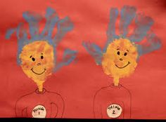 hand print craft Dr. Seuss themed
