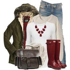 Parka & Rain Boots