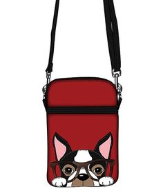 Look what I found on #zulily! Red Boston Terrier Crossbody Bag #zulilyfinds