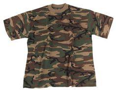 US Tarn T-Shirt, camo woodland, 160g/m² - Gr. M