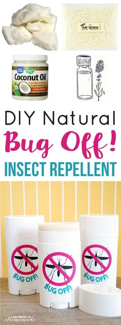 Make your own DIY Bug Off! Natural Insect Repellent Sticks - Happiness is Homemade