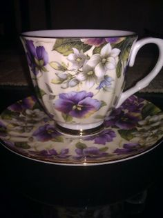 English bone china teacup I snagged at an estate sale for 3 dollars....pretty, huh?