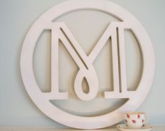 """Modern Wooden Monogram -Painted 23""""x23"""" Large Circle Home Decor Initial Wall Hanging on Etsy, $40.00"""