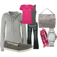 Outfit... love the colors together!