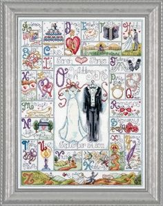 Design Works Counted Cross Stitch Picture Kit - Wedding ABC