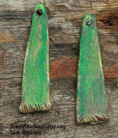 Poly Clay shabby chic sticks by ShantyChicBeads on Etsy