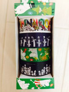 Cute Moomin Washi Masking Tape 4 Rolls Set by Mt Tape, Masking Tape, Washi Tape, Moomin, Paper Cards, Stationary, Rolls, Japanese, Holiday Decor