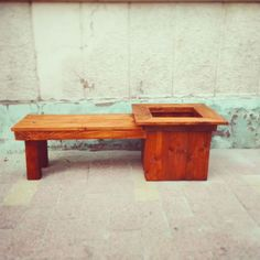 Wood Planter Bench | MyOutdoorPlans | Free Woodworking Plans and Projects, DIY Shed, Wooden Playhouse, Pergola, Bbq