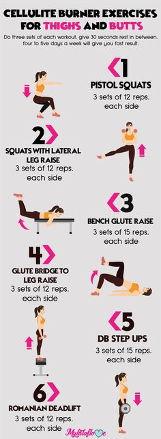 6 cellulite burner exercises for thighs and butts...
