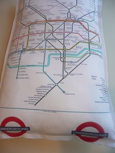 London Underground Tube Map Cushion £24.99----With an hour commute, We need to live, eat, sleep the tube!