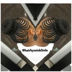 """""""Braided bun Located at  Salon Method  1630 Northside Dr. NW Atlanta, Ga 30318 313-570-6370 #minklittle #hairbyminklittle #protective #protectivestyles…"""""""