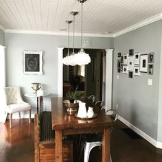 Wall color is Rhino by Behr