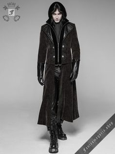 Gothic Fashion Men, Mens Fashion, Steampunk Fashion, Steampunk Clothing, Dark Fashion, Fashion Goth, Steampunk Coat, Steampunk Cosplay, Gothic Steampunk