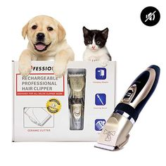 Dog Clipper Dog Grooming Kit Rechargeable Cordless Pet Grooming Clippers Pet Dog Cat Grooming Scissors Low Noise Hair Clippers Suitable For Dogs Cat Cat Grooming Pet Grooming Dog Grooming