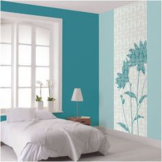 35 Most Popular Beach Style Bedroom Design Ideas Bedroom Turquoise, Bedroom Green, Bedroom Colors, Home Bedroom, Modern Bedroom, Bedroom Wall, Bedroom Decor, Bedroom Ideas, Floral Bedroom